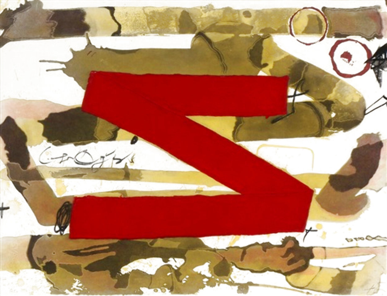 Z 1980 Limited Edition Print by Antoni Tapies
