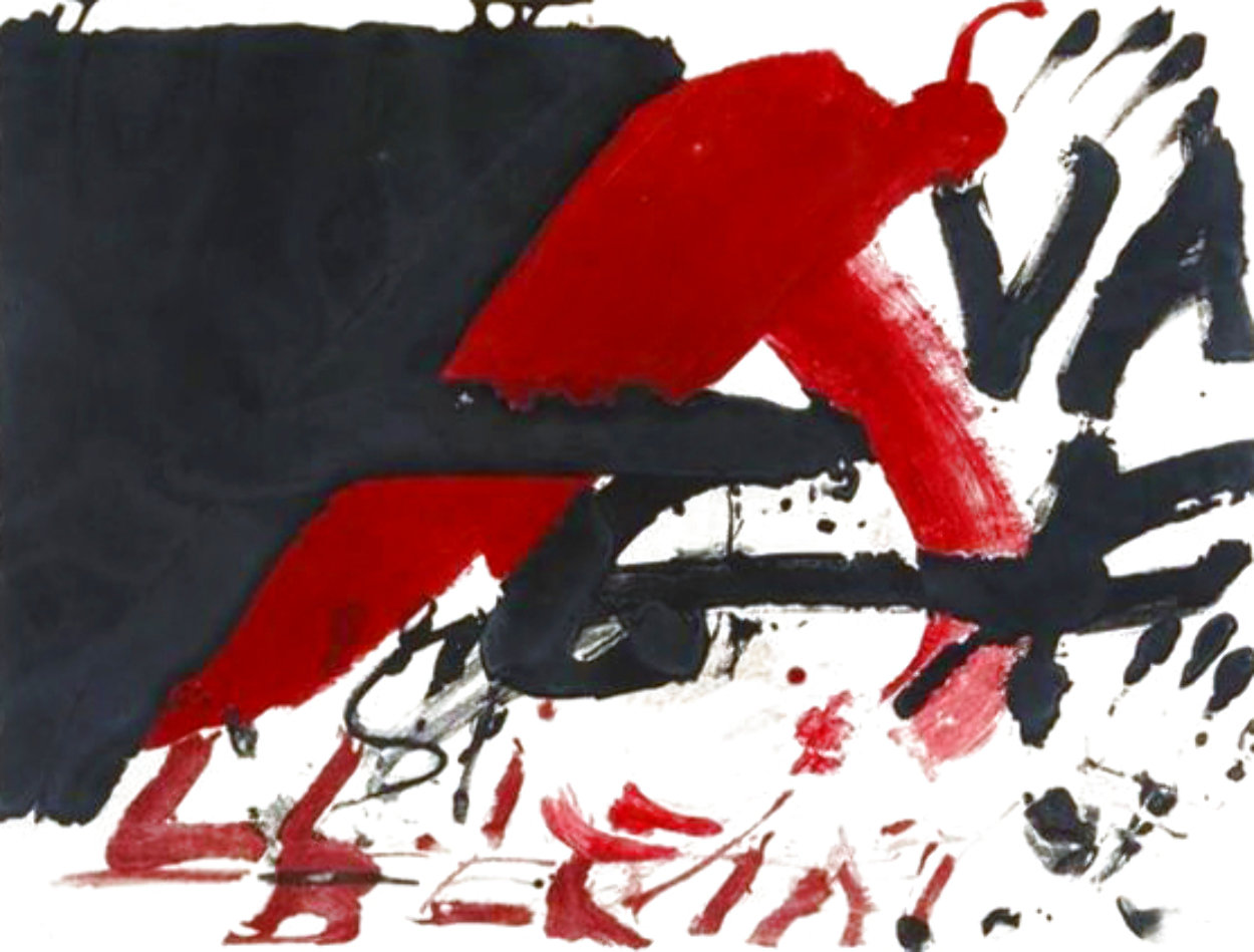 Signes Negres 1976 Limited Edition Print by Antoni Tapies