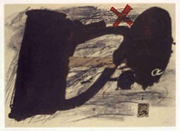 Llambrec #14 1975 Limited Edition Print by Antoni Tapies