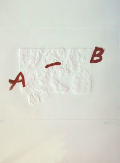 A. B. 1975 Limited Edition Print - Antoni Tapies