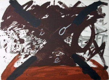 Untitled 1974  (From Berliner Suite) Limited Edition Print - Antoni Tapies