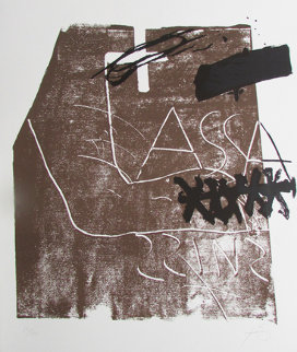 Assassins 1974 Limited Edition Print by Antoni Tapies