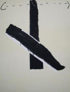 Letter L 1967 Limited Edition Print by Antoni Tapies