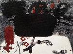 Roig I Negre 4 1985  HC  Limited Edition Print - Antoni Tapies