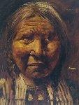 American Indian 1970 45x33 Original Painting - Jorge  Tarallo Braun