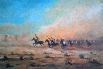 Untitled Horseback Riders 29x37 Original Painting - Jorge  Tarallo Braun