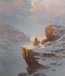 Mountain Man 29x25 Original Painting - Jorge  Tarallo Braun