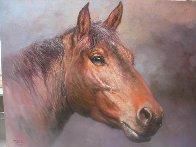 Horsehead 1980 24x30 Original Painting by Jorge  Tarallo Braun - 1