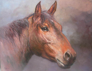 Horsehead 1980 24x30 Original Painting - Jorge  Tarallo Braun