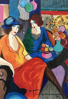 Chit Chat 2010 Limited Edition Print by Itzchak Tarkay