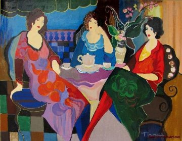 Sisters At Tea AP  Limited Edition Print by Itzchak Tarkay