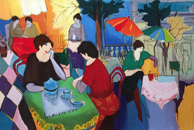Cafe Danielle Limited Edition Print by Itzchak Tarkay