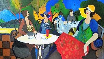Spingtime Cafe 2002 Huge 39x58 Limited Edition Print - Itzchak Tarkay