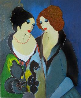 Jessica and Linda Sharing Secrets 2004 HC Limited Edition Print by Itzchak Tarkay
