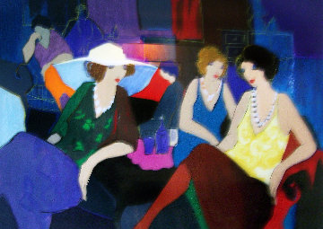 Trio/Cafe Chat Limited Edition Print by Itzchak Tarkay