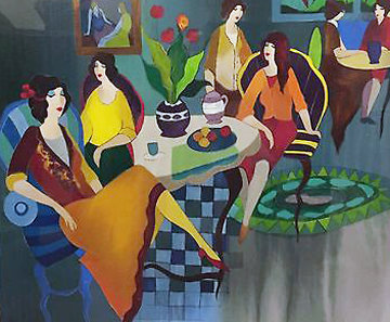 Lunch in the Blue 2007 Limited Edition Print - Itzchak Tarkay