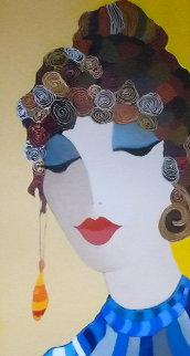 Close Up 2007 51x26 Original Painting by Itzchak Tarkay