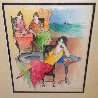 Countryside Cafe' Watercolor 26x23 Watercolor by Itzchak Tarkay - 4