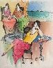 Countryside Cafe' Watercolor 26x23 Watercolor by Itzchak Tarkay - 0