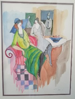 Untitled Watercolor 2005 28x24 Watercolor - Itzchak Tarkay