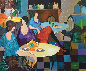 Afternoon Tea Limited Edition Print by Itzchak Tarkay