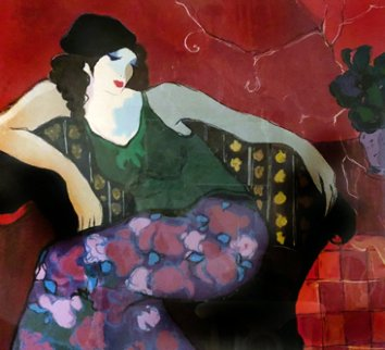 Relaxing in Red 2000 Limited Edition Print by Itzchak Tarkay