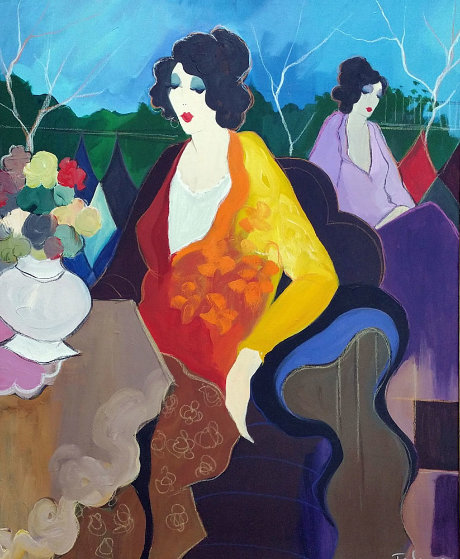 Eloisa 46x38 Original Painting by Itzchak Tarkay