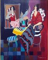 Silhouette #3 38x32 Huge Original Painting by Itzchak Tarkay - 1
