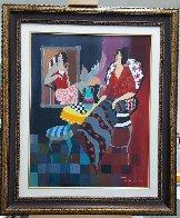 Silhouette #3 38x32 Huge Original Painting by Itzchak Tarkay - 2