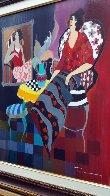 Silhouette #3 38x32 Huge Original Painting by Itzchak Tarkay - 3