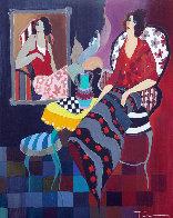 Silhouette #3 38x32 Huge Original Painting by Itzchak Tarkay - 0