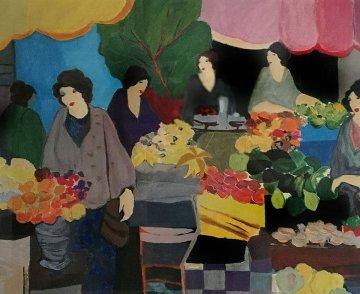 Flower Market 2000 Limited Edition Print - Itzchak Tarkay
