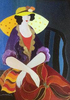 Social Attire 2011 37x32 Original Painting by Itzchak Tarkay