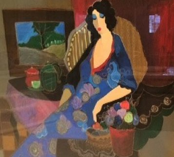 Blue Afternoon 2002 Limited Edition Print by Itzchak Tarkay