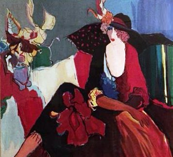 Lady in Red 1993 Limited Edition Print by Itzchak Tarkay