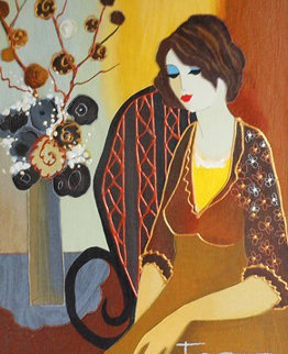 Peyton 2004 Embellished Limited Edition Print by Itzchak Tarkay