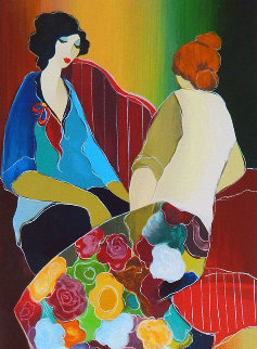 Confiding 2006 Limited Edition Print by Itzchak Tarkay