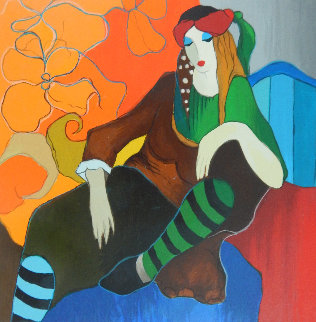 Retro Repose 2006 Limited Edition Print by Itzchak Tarkay