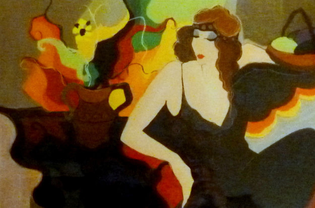 Mademoiselle 1995 Limited Edition Print by Itzchak Tarkay
