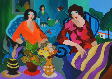 Patio Secret 2006 Limited Edition Print - Itzchak Tarkay