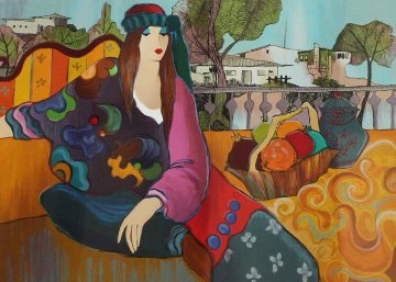 Zoe in the Country 2011 Limited Edition Print by Itzchak Tarkay