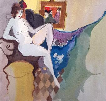 Sandra With Flowers 1996 Limited Edition Print - Itzchak Tarkay