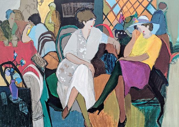 Cafe De Paris 2002 38x50 Limited Edition Print by Itzchak Tarkay