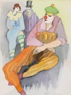 Carnival Watercolor Watercolor by Itzchak Tarkay