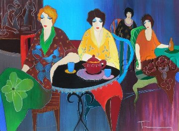 Cafe Bistro II 2010 Limited Edition Print - Itzchak Tarkay