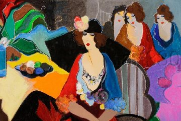 Four After the Party AP 1998 Limited Edition Print - Itzchak Tarkay
