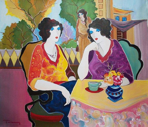 Untitled Painting 2007 30x26 Original Painting by Itzchak Tarkay