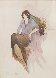 Untitled Woman 2002 35x21 Watercolor by Itzchak Tarkay - 0