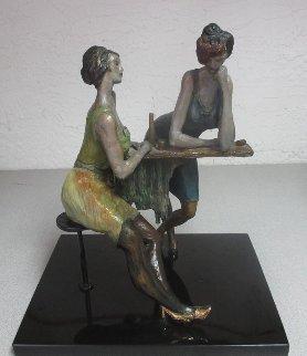Ladies At the Bar Bronze Sculpture 2004 17 in Sculpture by Itzchak Tarkay
