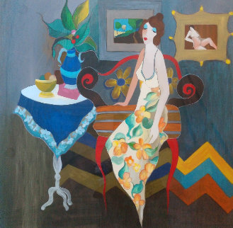 Elegant Pause 2006 Limited Edition Print by Itzchak Tarkay